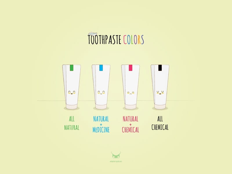 toothpaste color